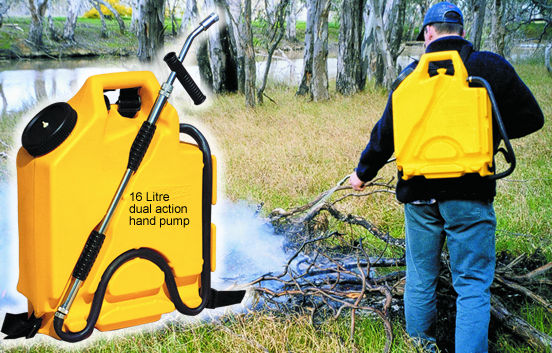 Firefighting backpack sprayer