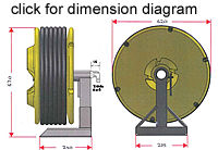 Hose reel dimensions - click to enlarge